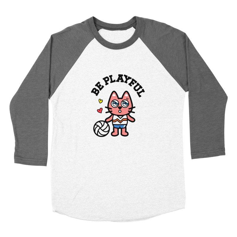 i am volleyball player Men's Baseball Triblend T-Shirt by beatbeatwing's Artist Shop