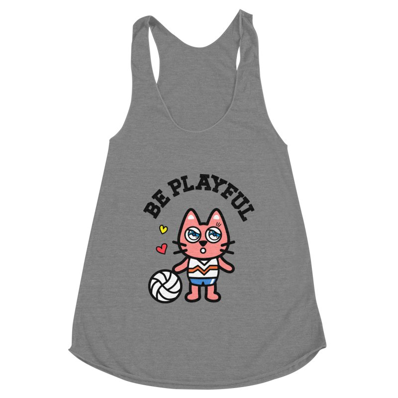 i am volleyball player Women's Racerback Triblend Tank by beatbeatwing's Artist Shop