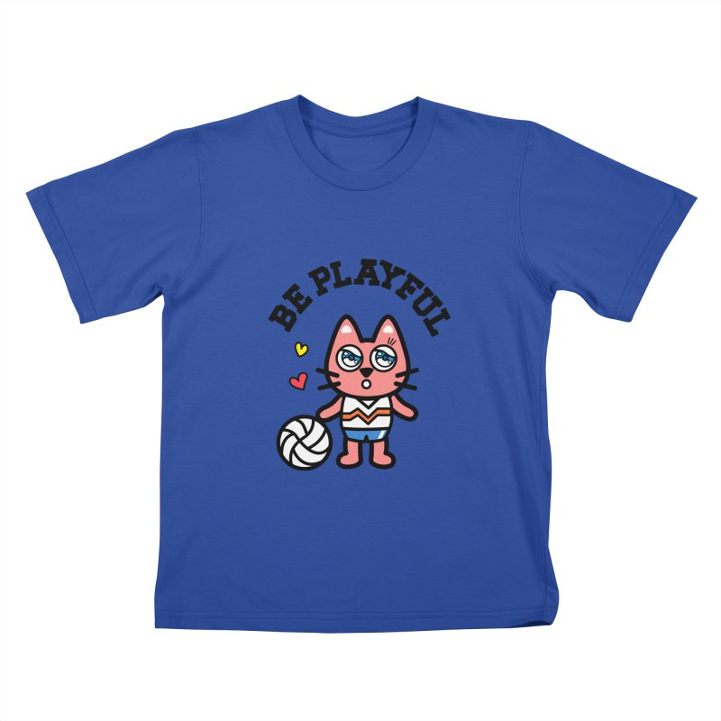 i am volleyball player Kids T-shirt by beatbeatwing's Artist Shop