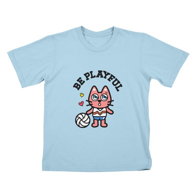 i am volleyball player Kids T-Shirt by beatbeatwing's Artist Shop