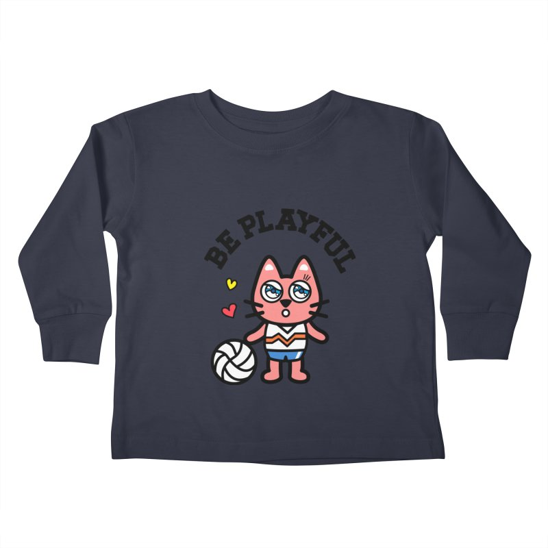 i am volleyball player Kids Toddler Longsleeve T-Shirt by beatbeatwing's Artist Shop