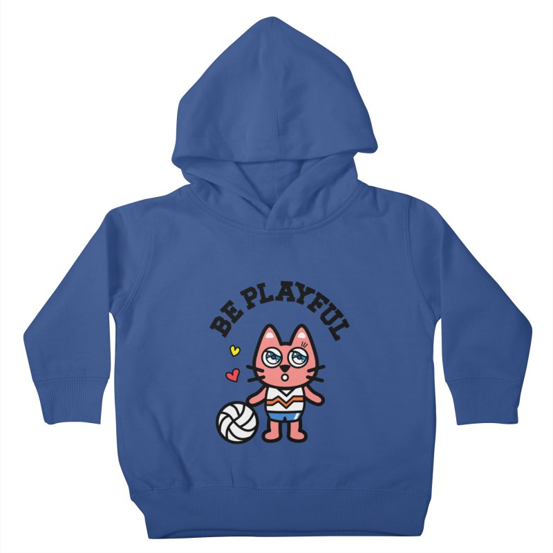 i am volleyball player Kids Toddler Pullover Hoody by beatbeatwing's Artist Shop