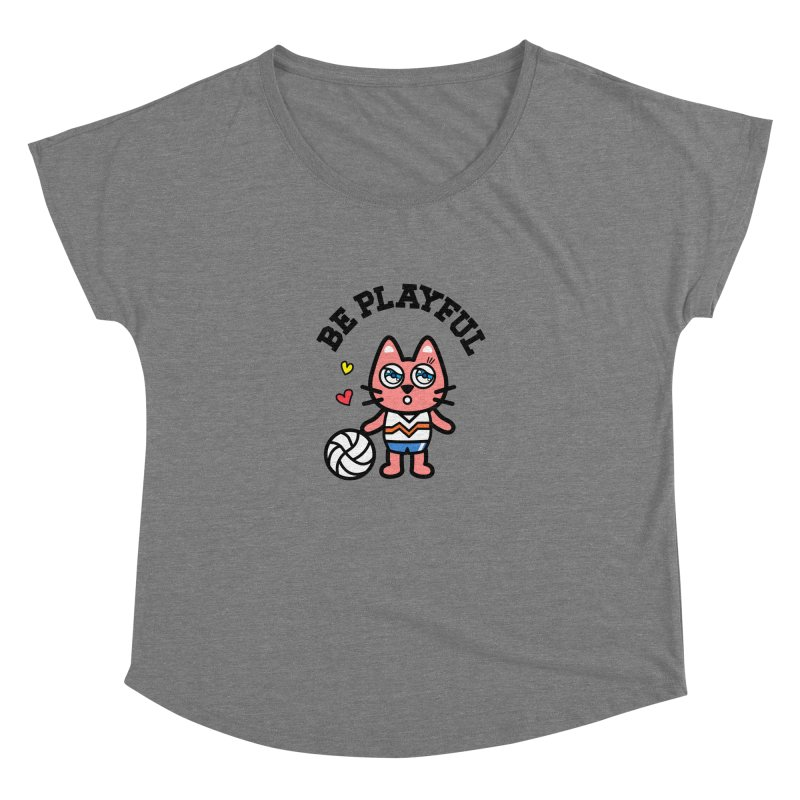 i am volleyball player Women's Dolman Scoop Neck by beatbeatwing's Artist Shop