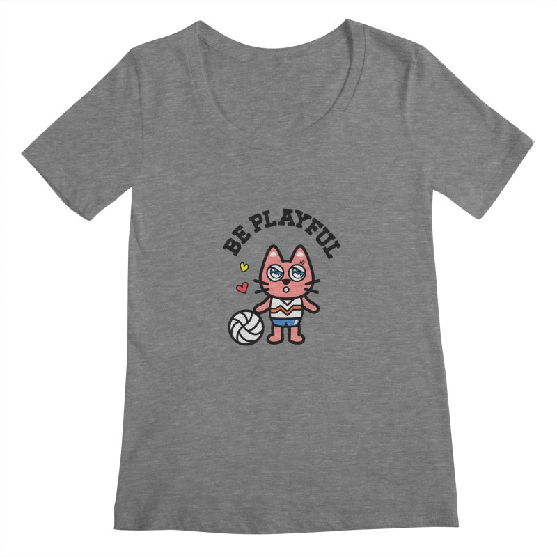 i am volleyball player Women's Scoopneck by beatbeatwing's Artist Shop