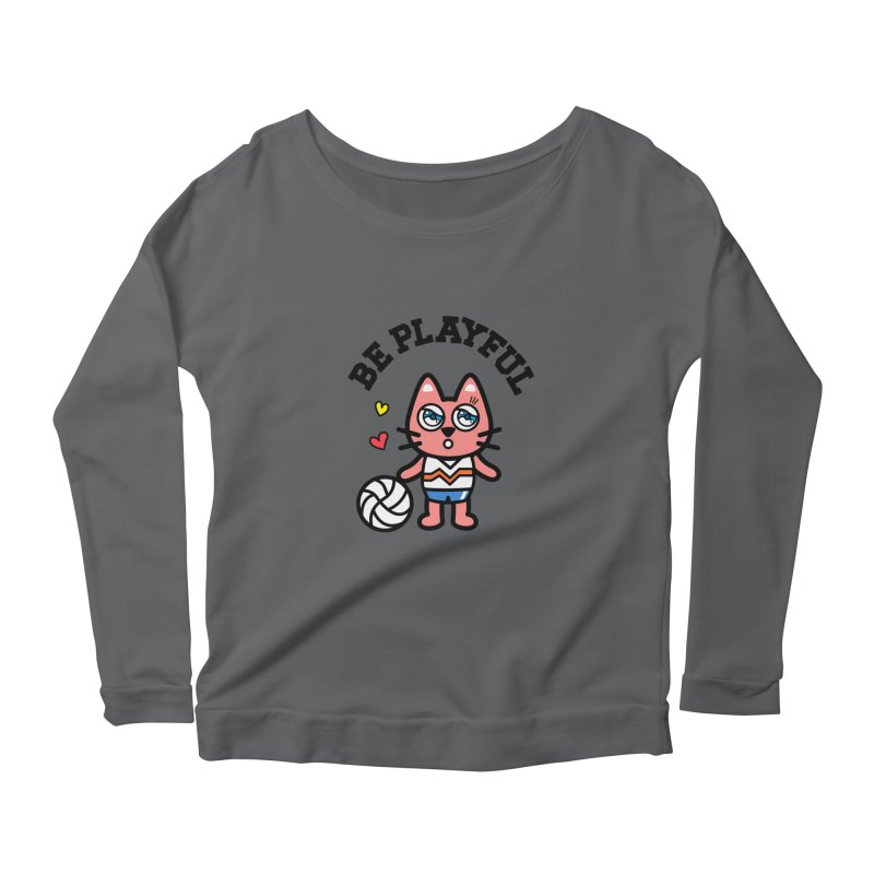 i am volleyball player Women's Longsleeve Scoopneck  by beatbeatwing's Artist Shop