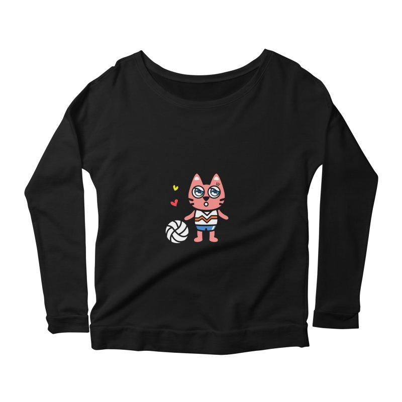 i am volleyball player Women's Scoop Neck Longsleeve T-Shirt by beatbeatwing's Artist Shop