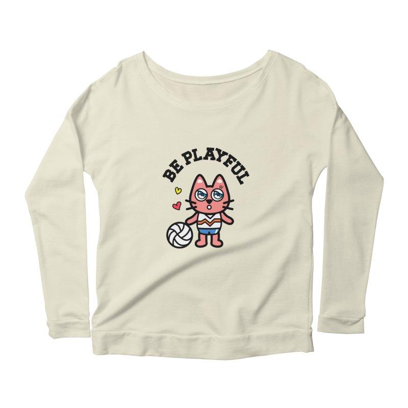 i am volleyball player Women's Longsleeve Scoopneck  by beatbeatwing's Artist Shop