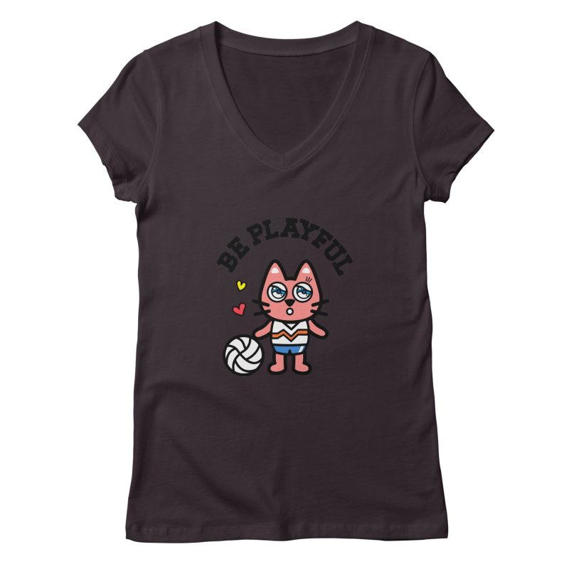 i am volleyball player Women's V-Neck by beatbeatwing's Artist Shop