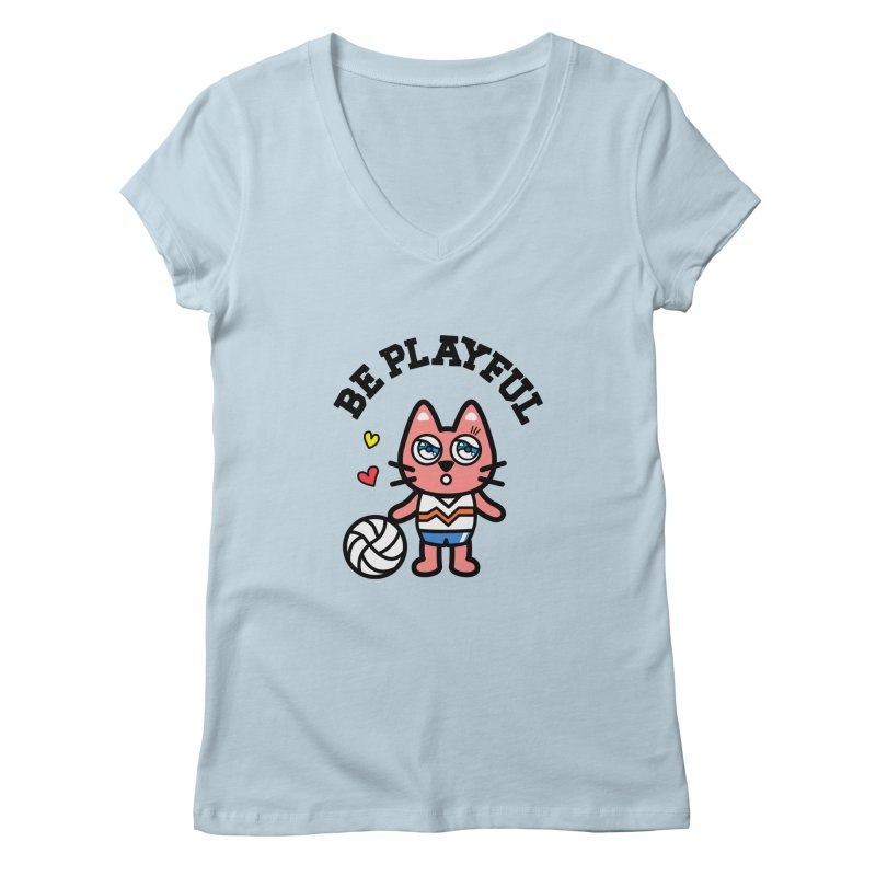 i am volleyball player Women's Regular V-Neck by beatbeatwing's Artist Shop