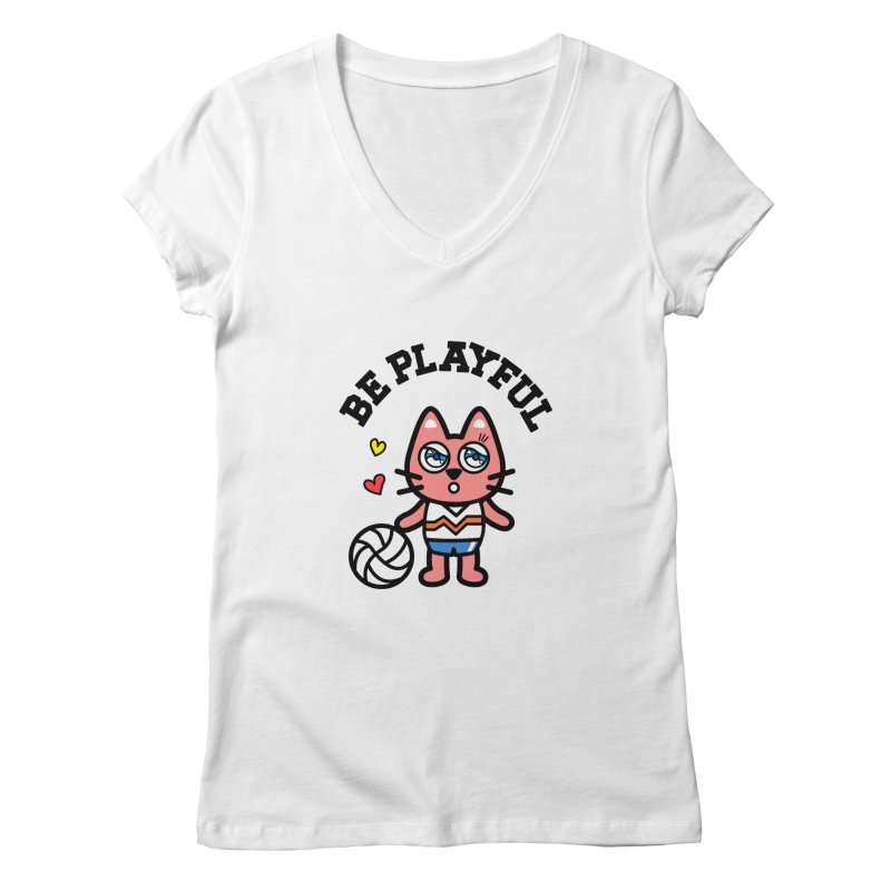 i am volleyball player Women's Regular V-Neck by beatbeatwing's Artist Shop