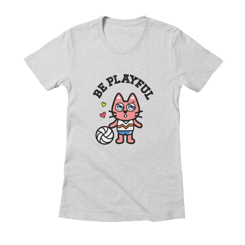 i am volleyball player Women's Fitted T-Shirt by beatbeatwing's Artist Shop