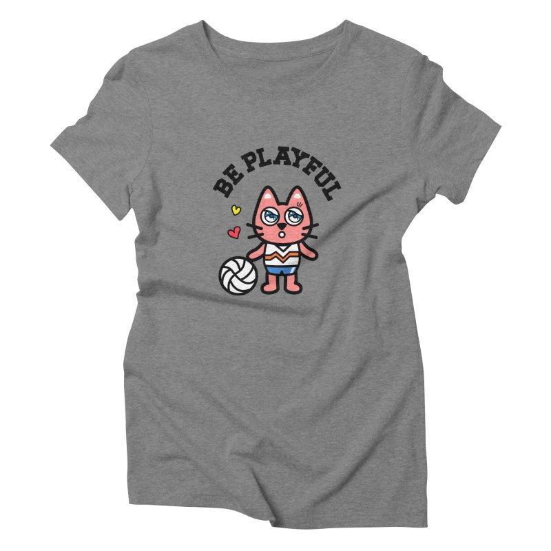 i am volleyball player Women's Triblend T-shirt by beatbeatwing's Artist Shop