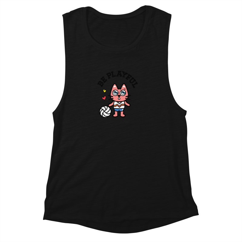 i am volleyball player Women's Muscle Tank by beatbeatwing's Artist Shop