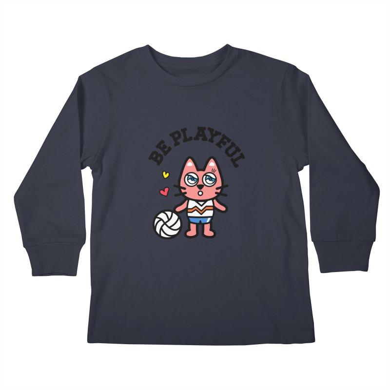 i am volleyball player Kids Longsleeve T-Shirt by beatbeatwing's Artist Shop