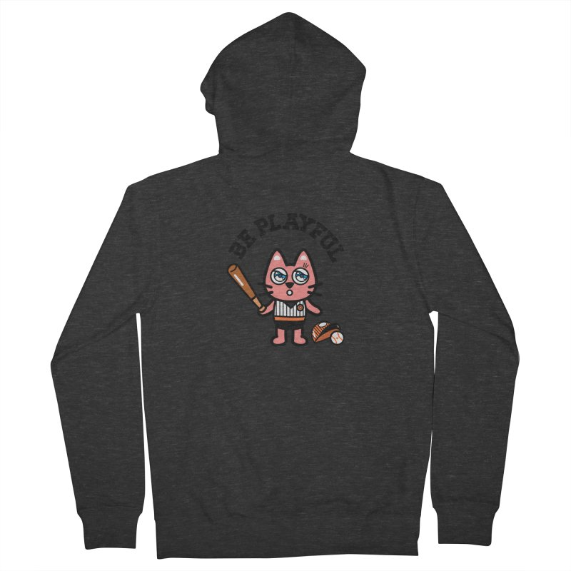 i am baseball player Women's French Terry Zip-Up Hoody by beatbeatwing's Artist Shop