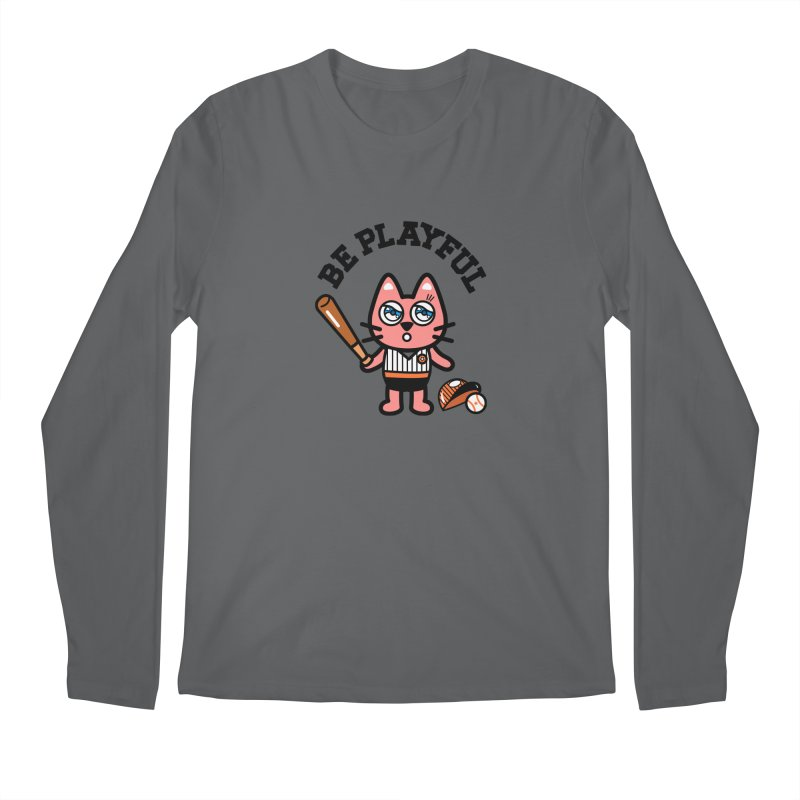 i am baseball player Men's Regular Longsleeve T-Shirt by beatbeatwing's Artist Shop