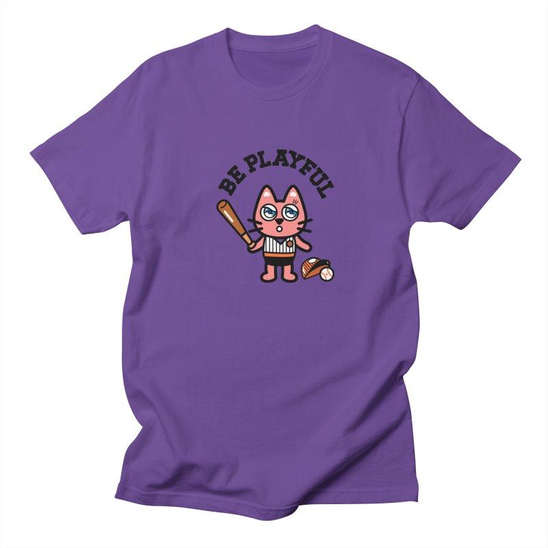 i am baseball player Men's Regular T-Shirt by beatbeatwing's Artist Shop