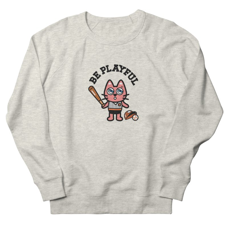 i am baseball player Women's French Terry Sweatshirt by beatbeatwing's Artist Shop