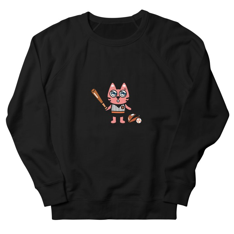 i am baseball player Men's French Terry Sweatshirt by beatbeatwing's Artist Shop