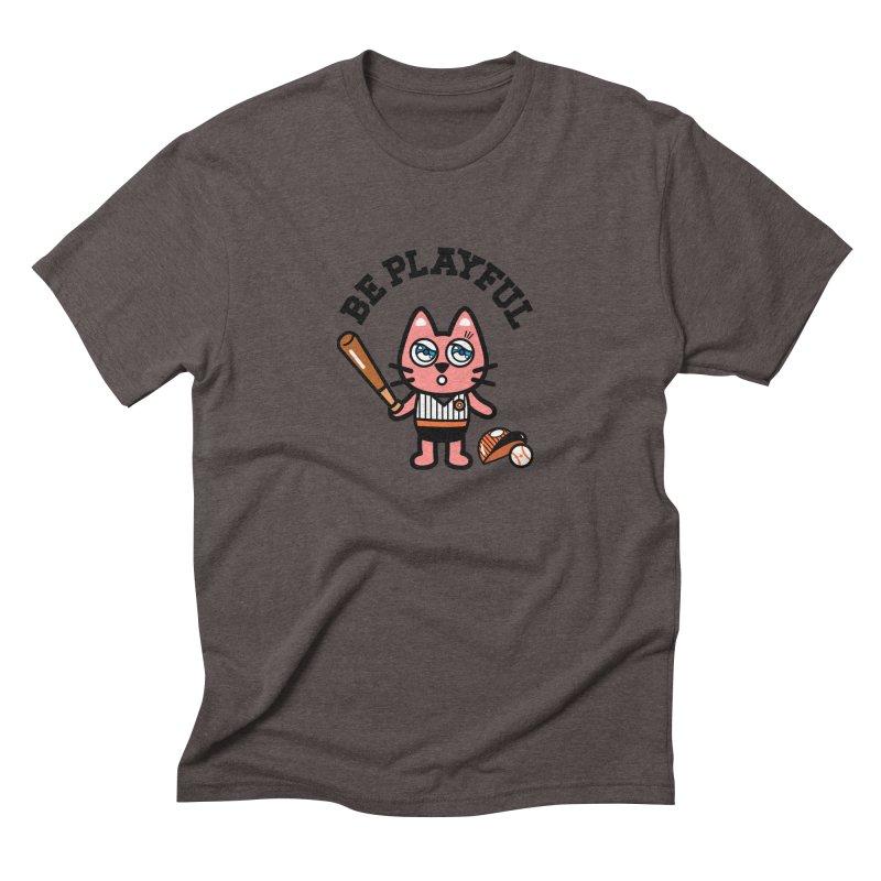 i am baseball player Men's Triblend T-Shirt by beatbeatwing's Artist Shop