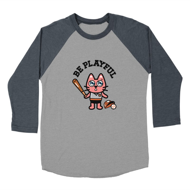 i am baseball player Women's Baseball Triblend Longsleeve T-Shirt by beatbeatwing's Artist Shop