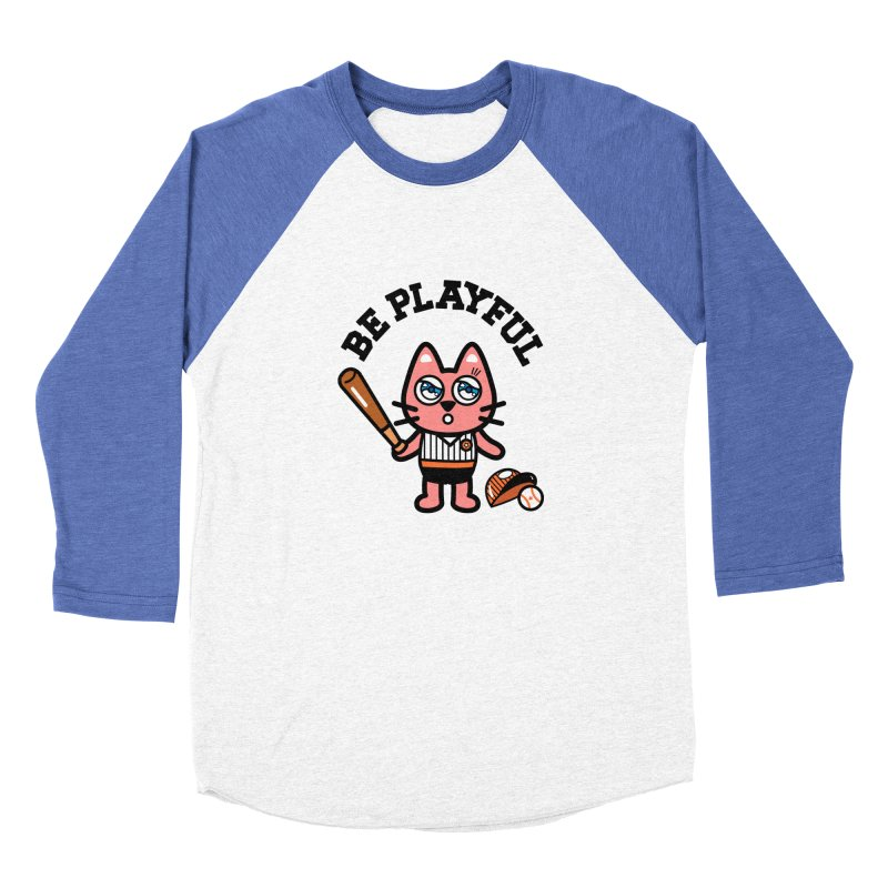 i am baseball player Men's Baseball Triblend Longsleeve T-Shirt by beatbeatwing's Artist Shop