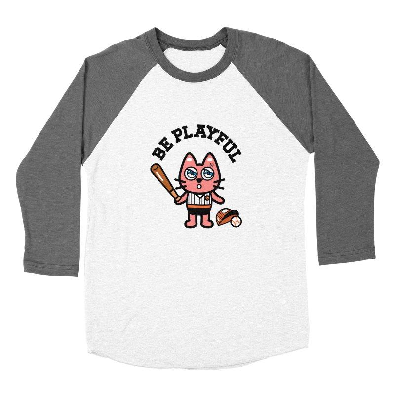 i am baseball player Men's Baseball Triblend Longsleeve T-Shirt by beatbeatwing's Artist Shop