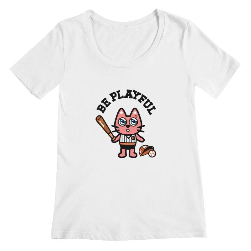 i am baseball player Women's Regular Scoop Neck by beatbeatwing's Artist Shop