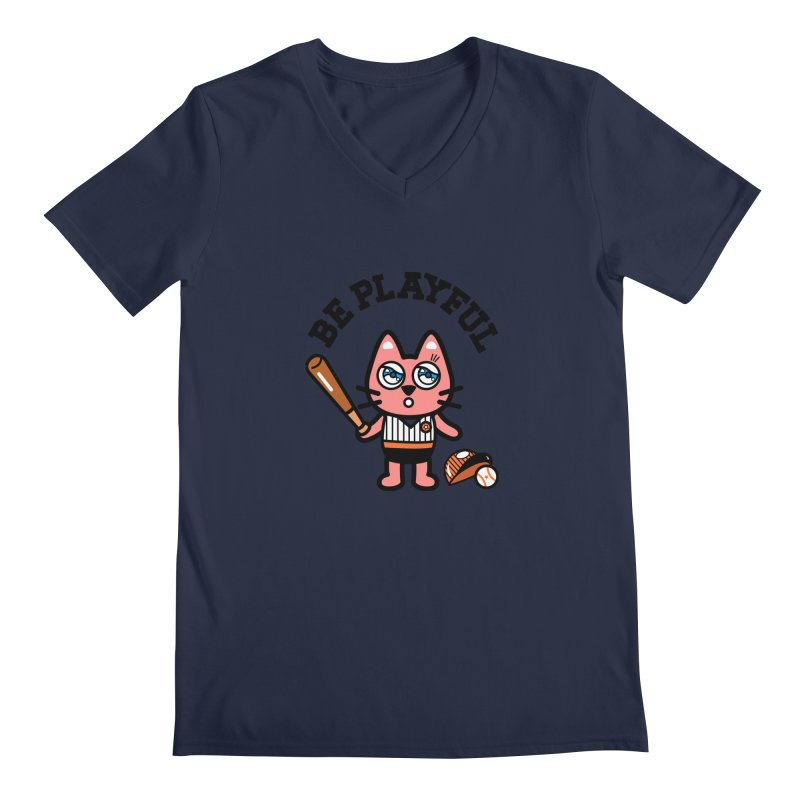 i am baseball player Men's V-Neck by beatbeatwing's Artist Shop