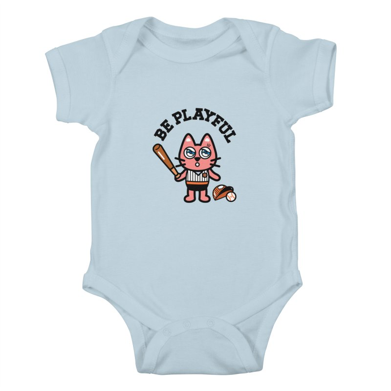 i am baseball player Kids Baby Bodysuit by beatbeatwing's Artist Shop