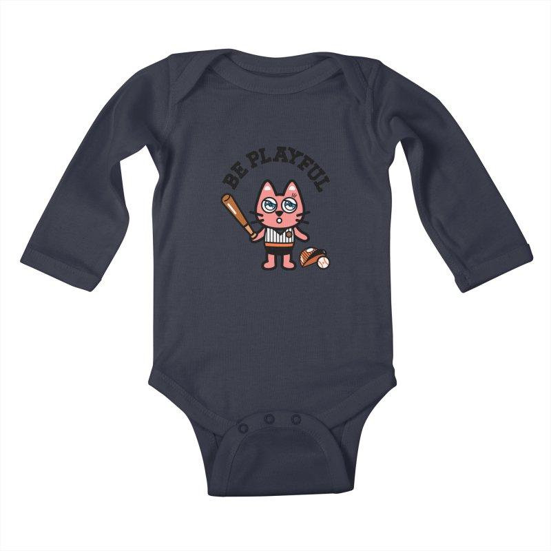 i am baseball player Kids Baby Longsleeve Bodysuit by beatbeatwing's Artist Shop