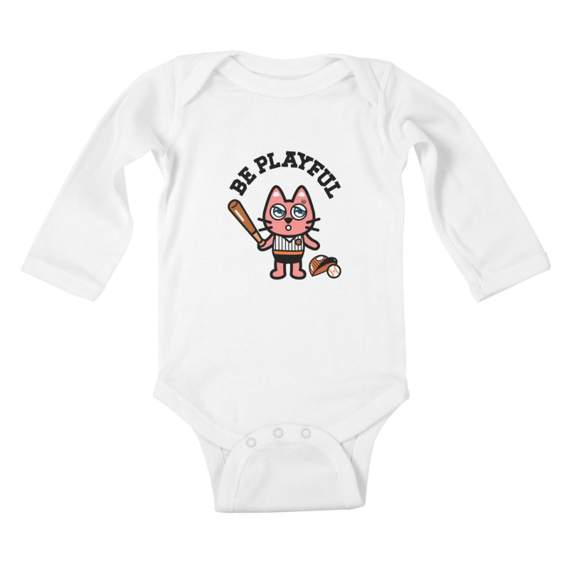 i am baseball player Kids Baby Longsleeve Bodysuit by beatbeatwing's Artist Shop