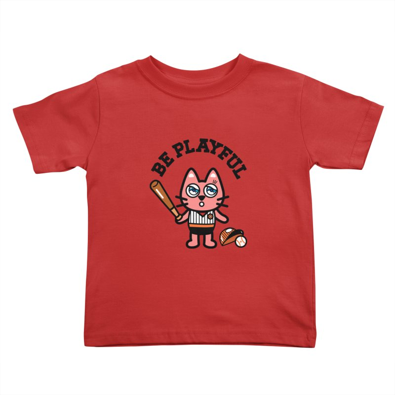 i am baseball player Kids Toddler T-Shirt by beatbeatwing's Artist Shop