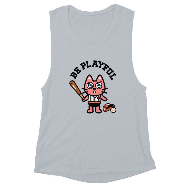 i am baseball player Women's Muscle Tank by beatbeatwing's Artist Shop