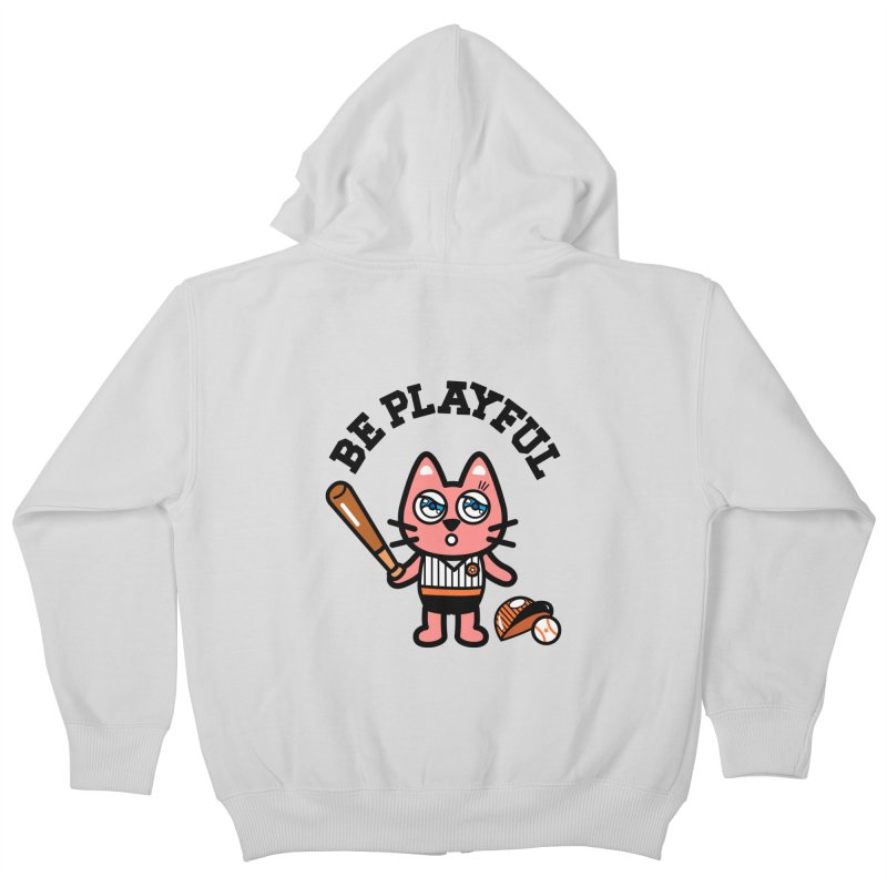 i am baseball player Kids Zip-Up Hoody by beatbeatwing's Artist Shop