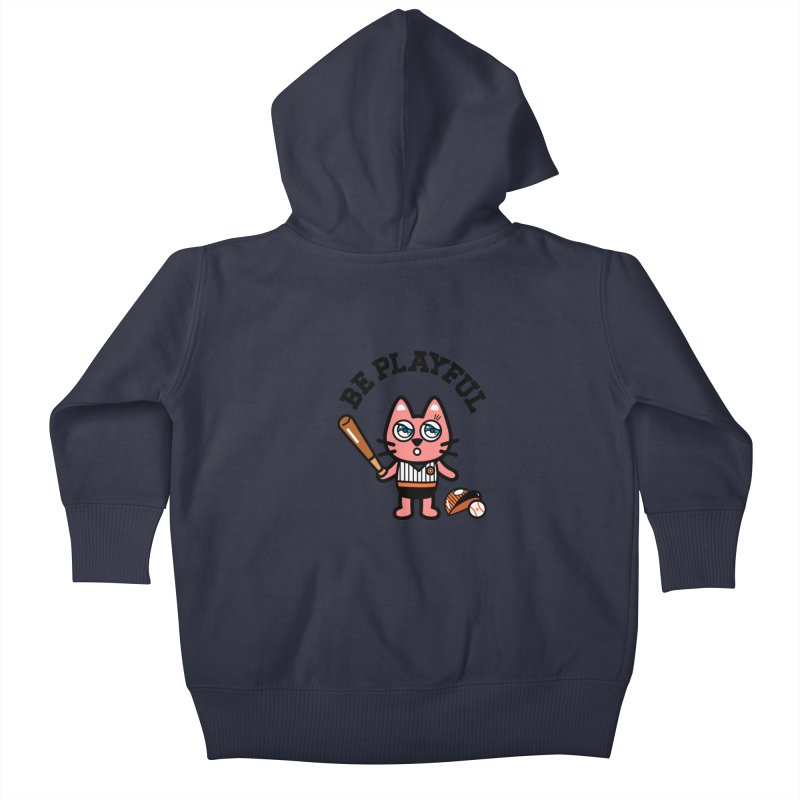 i am baseball player Kids Baby Zip-Up Hoody by beatbeatwing's Artist Shop