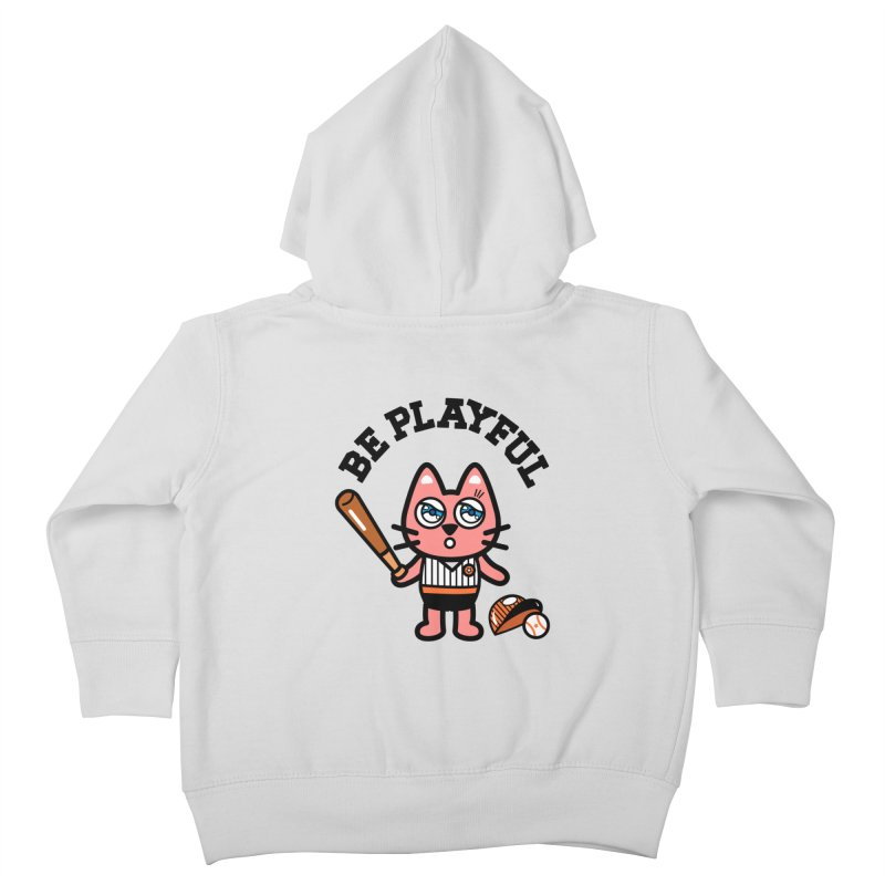 i am baseball player Kids Toddler Zip-Up Hoody by beatbeatwing's Artist Shop