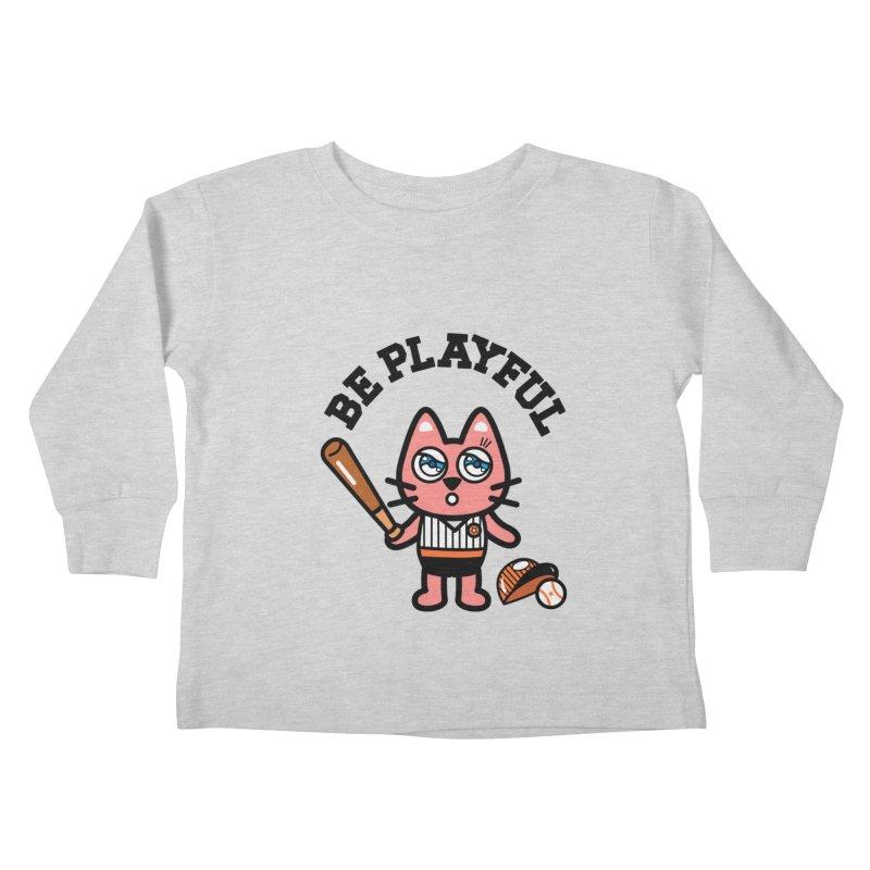 i am baseball player Kids Toddler Longsleeve T-Shirt by beatbeatwing's Artist Shop