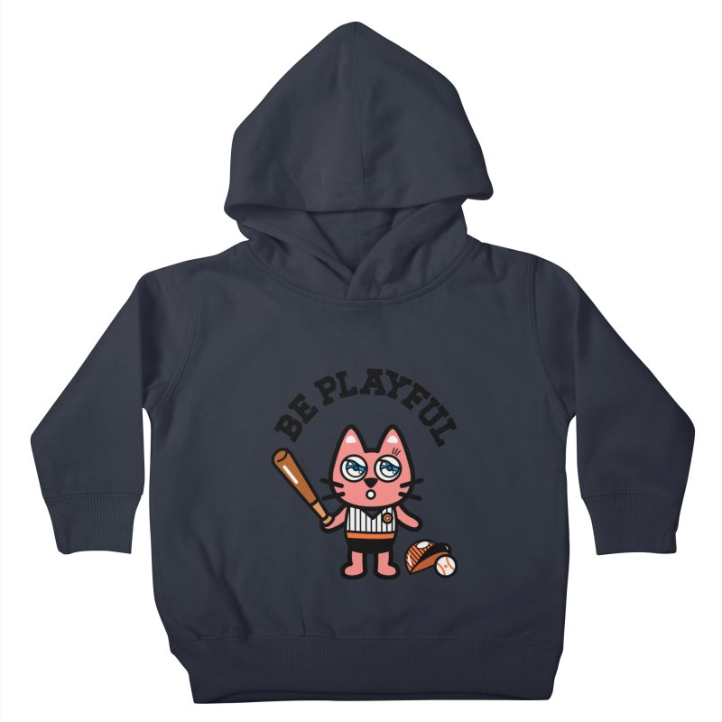 i am baseball player Kids Toddler Pullover Hoody by beatbeatwing's Artist Shop