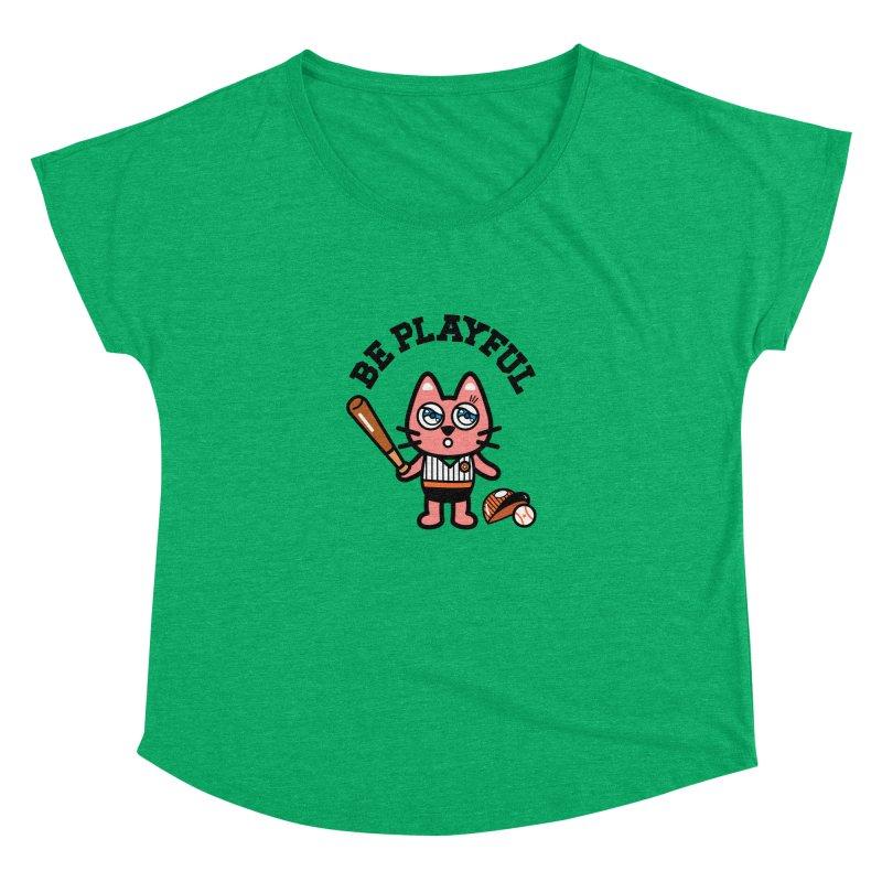 i am baseball player Women's Dolman Scoop Neck by beatbeatwing's Artist Shop