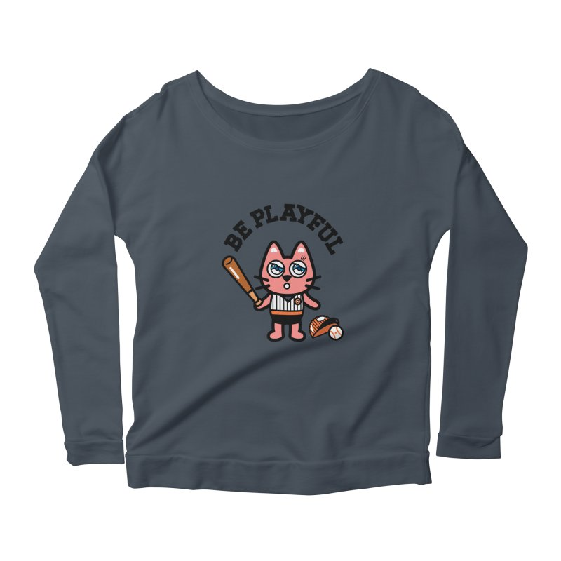 i am baseball player Women's Longsleeve Scoopneck  by beatbeatwing's Artist Shop