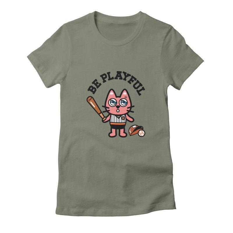 i am baseball player Women's Fitted T-Shirt by beatbeatwing's Artist Shop