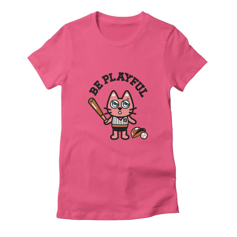 i am baseball player Women's Fitted T-Shirt by beatbeatwing's Artist Shop