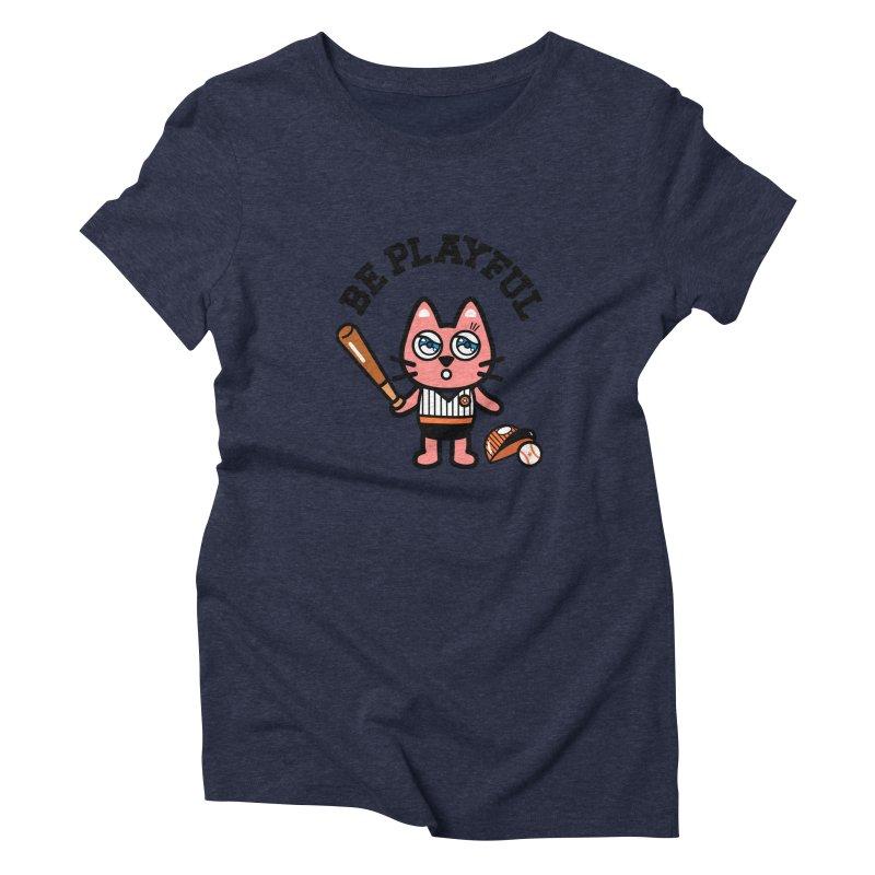 i am baseball player Women's Triblend T-Shirt by beatbeatwing's Artist Shop