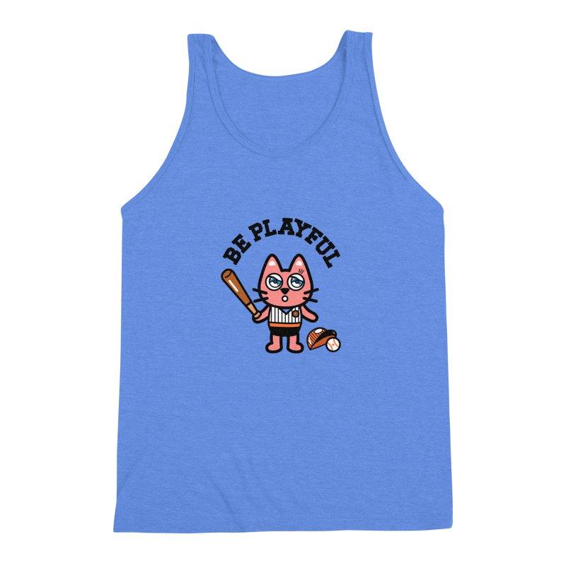 i am baseball player Men's Triblend Tank by beatbeatwing's Artist Shop