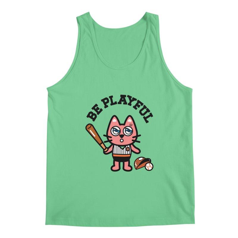 i am baseball player Men's Regular Tank by beatbeatwing's Artist Shop