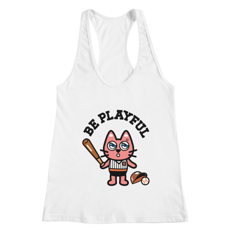 i am baseball player Women's Racerback Tank by beatbeatwing's Artist Shop