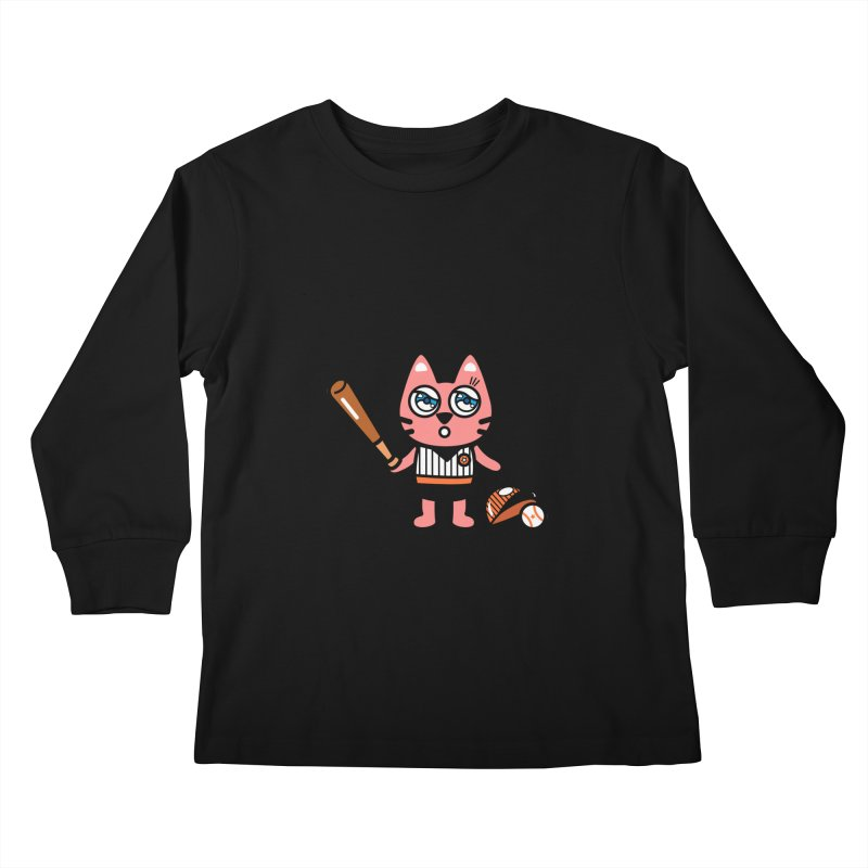 i am baseball player Kids Longsleeve T-Shirt by beatbeatwing's Artist Shop