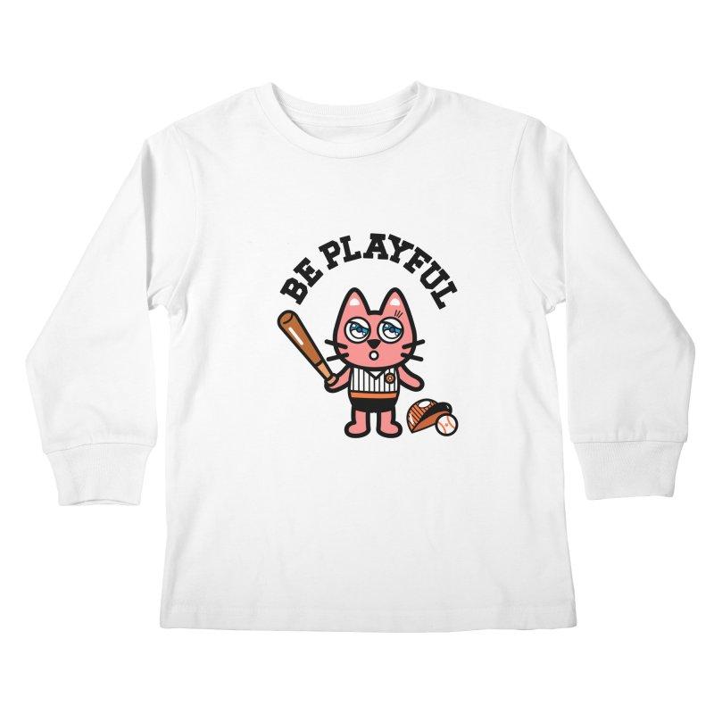 i am baseball player Kids Longsleeve T-Shirt by beatbeatwing's Artist Shop
