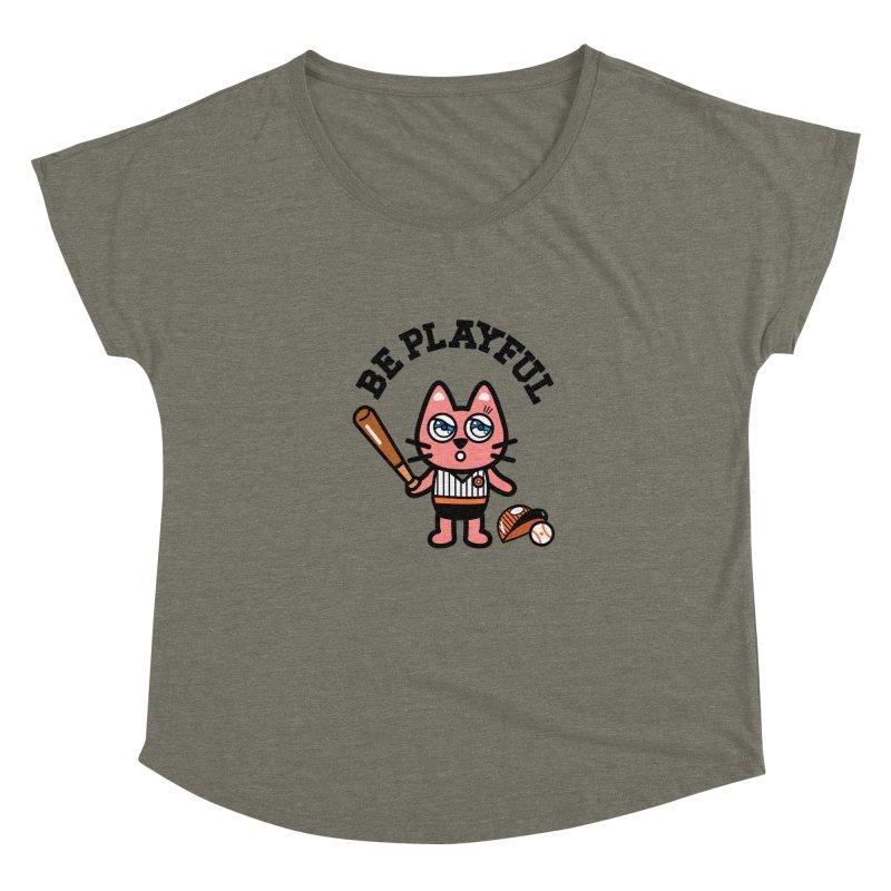 i am baseball player Women's Scoop Neck by beatbeatwing's Artist Shop